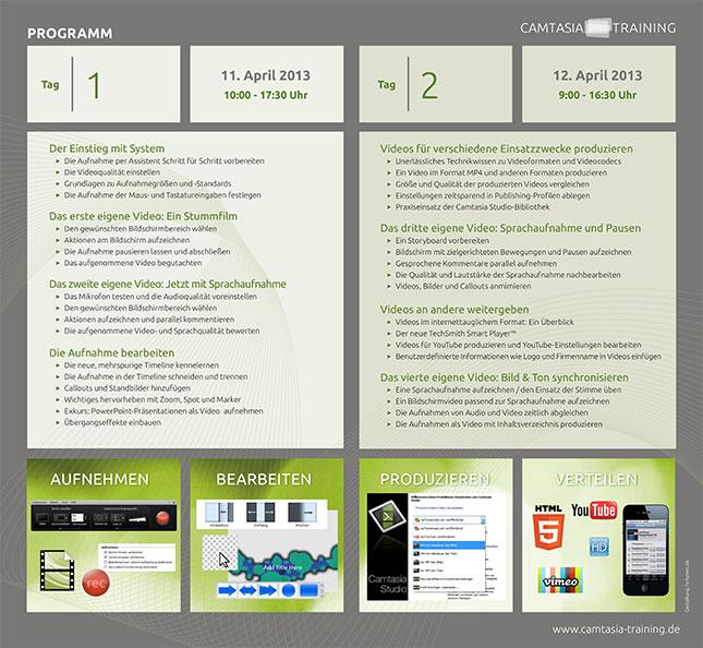Den Ablaufplan der zwei Tage als PDF herunterladen